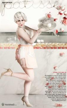 Marie Claire magazine Clara Cupcakes