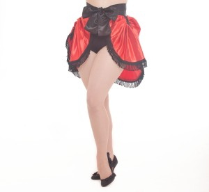 Vaudeville Satin Bustle Red